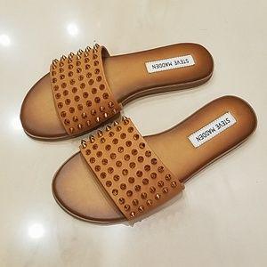 NWOT Steve Madden Farryn Cognac Sandals, 7